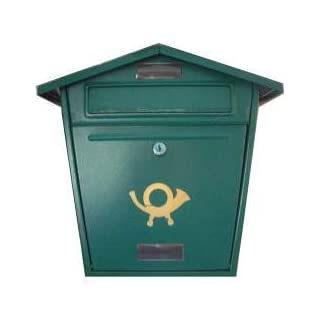 Aboria Steel Plate Post Box Green (104335)