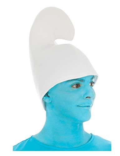 Generique - Schlumpf-Mütze Kostüm-Zubehör für Erwachsene Weiss