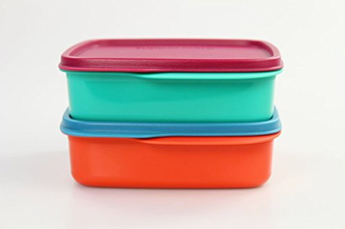 TUPPERWARE To Go Lunchbox 550 ml orange + türkis Trennwand Clevere Pause Schule