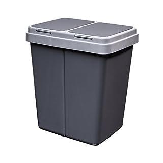 Alpfa Müllbehälter 2 x 30 L Duo Bin #4 - Made in Europe inkl. 2 Ersatzfedern