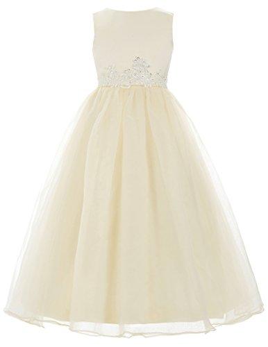 Blumenmaedchen kleid Brautjungfer Kleid 11 Jahre CL4491-2 (Satin Blumenmädchen Kleider)