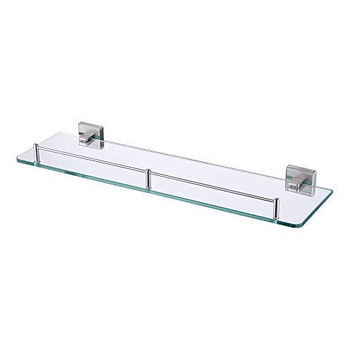 Kes mensola da bagno in vetro,sus304 acciaio inox,spazzolato,a2420a-2