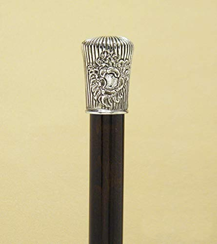Walking Stick Milord Lines with blazon Silver 925‰ - Horn Walking Stick