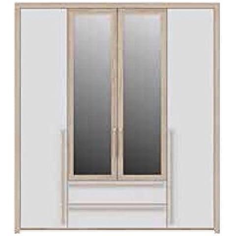 Salisbury 4para puerta 2cajones Armario con espejo