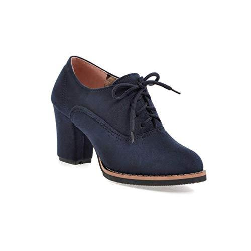 Las Mujeres Bombas Nobuck Zapatos Cuero Redondo Toe