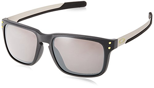 Oakley Men's Holbrook Mix (a) Non-Polarized Iridium Rectangular Sunglasses, Steel, 57.0 mm