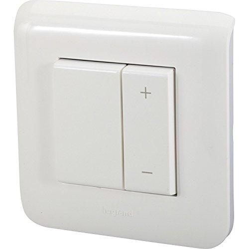 Legrand LEG99595 Interrupteur variateur complet mosaic 600 watts, Blanc