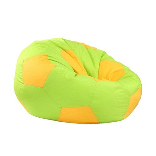 Fenteer Fußball Gedruckt Sofa Sitzsackbezg Sitzsack Sessel Bezug für Wohnzimmer - Grün