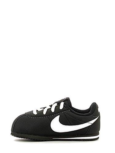 Nike Cortez Nylon (Td), Chaussures mixte bébé Blanco (Black / White)