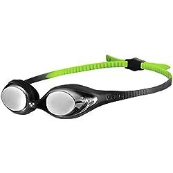 Arena Spider Jr Mirror Gafas de Natación, Unisex Adulto, Negro (Black/Silver), Talla Única