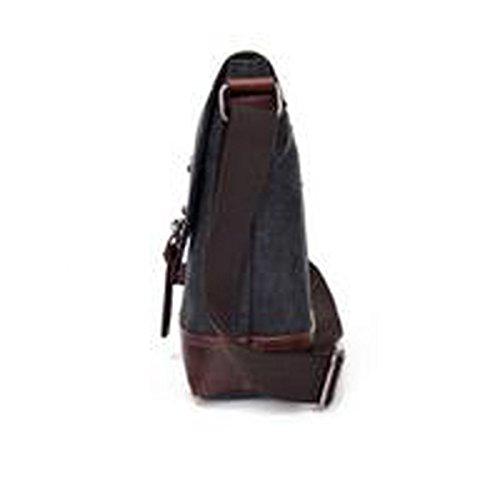 Männer Retro-Sturdy Dauerhaft Beiläufige Quadratische Tasche Einzelne Schulterbeutel Multicolor Black