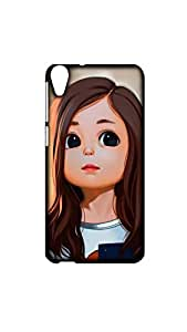 Doll in Long Hair Style Case For HTC 820