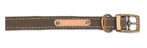Timberwolf Leather Collar Sable 45-54cm Size
