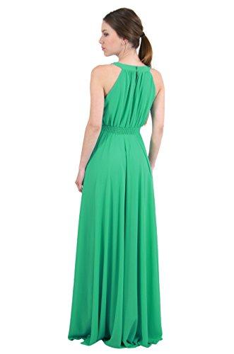 Sunshine - Longue robe bustier en cache coeur ornée de pierres et de brillants fantaisie - Femme Noir