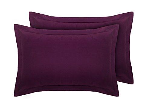 Divine Textiles Kissenbezug, 100% ägyptische Baumwolle, Fadenzahl 200, violett, Oxford Pair Pillow Cases -