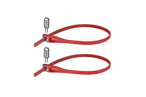 Hiplok Z-Lok Stahlkern Kabelbinder-Schloss 2er pack, rot, Einheitsgröße -