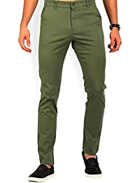 Americanchoice Dark Green Solid Regular Fit Men's Trousers