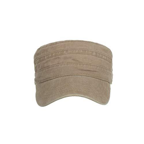 Imagen de 2019 moda  de algodón lavado caps militares cadete diseño único vintage top con tapa plana para anti los rayos del sol adapto al aire libre/hacer deporte caqui  alternativa