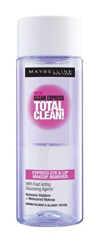 Maybelline New York Clean Express Waterproof Eye & Lip Makeup Remover Lotion 2.45oz/70 ml...