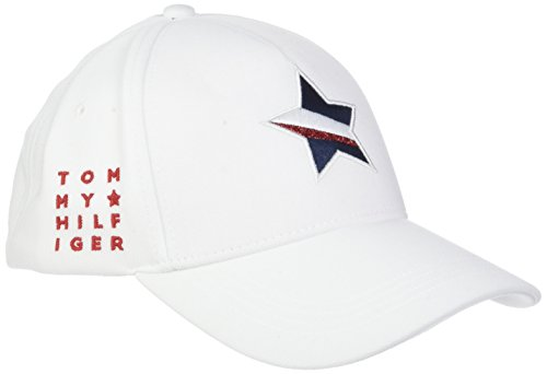 Tommy Hilfiger Damen Baseball Mascot Race Cap, Weiß (Bright White 104), One Size (Herstellergröße: OS)