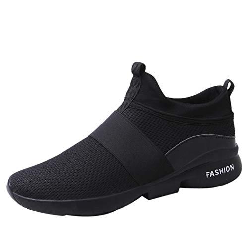 Baskets FantaisieZ Chaussures de Sport en Filet évasables Baskets Mode Homme Wild Slip-on Souliers Chaussures Maille Respirante Occasionnels pour Hommes