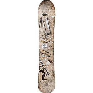 Nitro Snowboards Herren Woodcarver '19 All-Mountain Freeride Carving Board in Mid-Wide für Turn und Powder