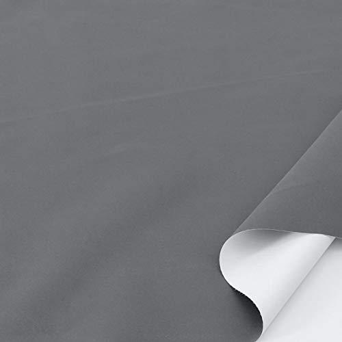 TOLKO Sonnenschutz Verdunklungsstoff Meterware   100{d7b77c2b627a4ff82b9175537056217d530bab29cf404c5458619b94885b075e} Lichtdicht, zum Nähen für Verdunklungsvorhänge, Gardinen oder Verdunklungsrollo (Grau)