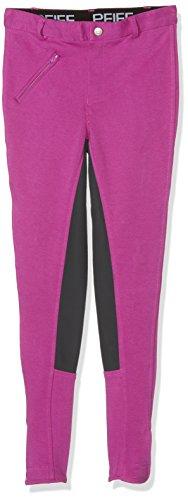 PFIFF Kinder Reithose Vollbesatzhose, Pink / Grau, 116
