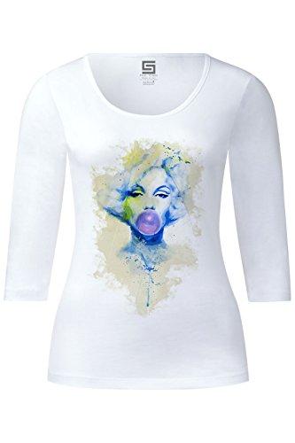 marilyn-monroe-vii-ladies-3-4-arm-designer-shirt-sleeve-stretch-tee-long-sleeve