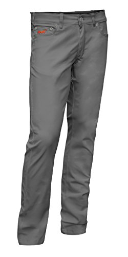 Bundhose Stretch Milano 5-Pocket-Jeans Style Baumwolle 260 gm - Business Stoffhose Elegante Hose Classic Wachmann Security Sicherheitsdienst Kellnerhose - made in EU - KERMEN - Grau. Größe: 23 (5-pocket-arbeit Jean)