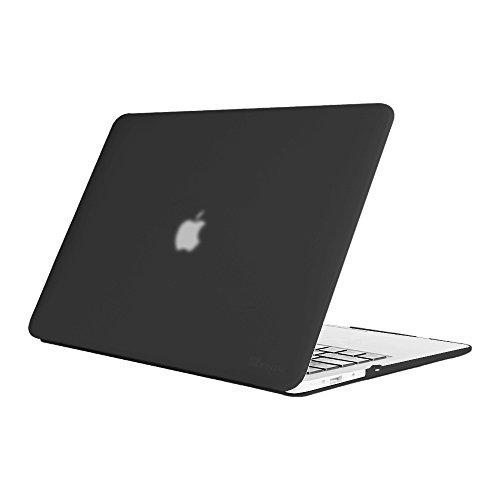 Fintie MacBook Air 13 Hülle - Ultra Slim Hochwertige Matt Gummierte Hartschale Tasche Schutzhülle Snap Case für Apple MacBook Air 13.3 Zoll (A1466 / A1369) , Schwarz