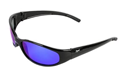 Rapid Eyewear Mens and Womens Polarized Sunglasses That Float For Fishing, Sailing and Other Water Sports. No Floating Glasses Retainer Strap Required. Antiglare UV 400 Mirrored Lenses. Black from Rapid Eyewear