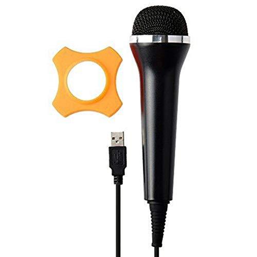 USB-Mikrofon mit Kabel für PS4 PS3 Xbox One Xbox 360 Wii PC, High Performance, kompatibel mit allen Rock Band und Karaoke-Spielen Schwarz