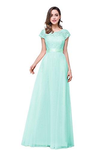 MisShow Vintage Kleid Swing Rockabilly Kleid Skaterkleid Pet Hohe Bund Tanzkleid Mint Grün GR. 38 -