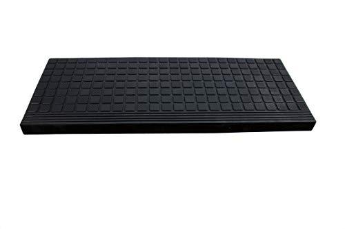 BigDean Stufenmatte aus Gummi – 64,5x25cm - mit Winkelkante, Rutschfest, für Innen- und Außentreppen Treppenmatte