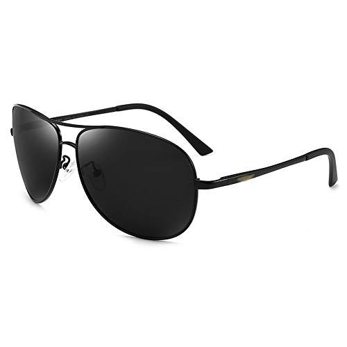 SCJS Herren Aviator Sonnenbrille Driving Polarizer Anti-Glare UV-Schutzbrille Wayfarer Sonnenbrille (Farbe: Schwarz)