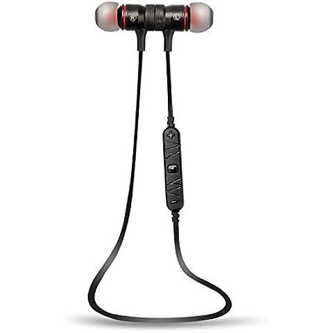 Cuffie Auricolari a cancellazione del rumore, Auricolare Bluetooth 4.0 Sportivi in-ear Levin Cuffie Stereo Wireless Conpatibile iphone,Android iphone,Wiondows iphone ed altri smartphone