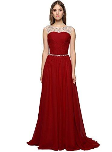 da6fea3ca257 Judi Dench  Abito Donna Eleganti Lunghi Di Chiffon Senza Maniche Da Sera  Cerimonia Ballo Coctail Dress Vestito Maxi ...