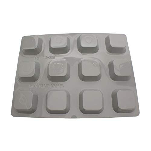 Square Muffin Pan (CK Products 49-850 Plastic Square Muffin Pan, White)