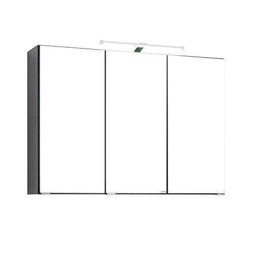Bad Spiegelschrank mit 3D Effekt Anthrazit Breite 90 cm Pharao24 - 4