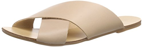 Pieces Psjama Leather Sandal, Mules femme Beige - Beige