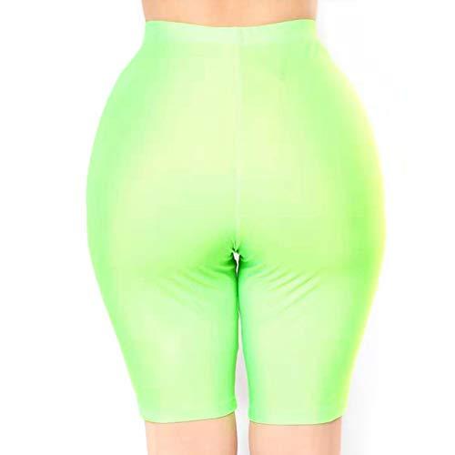 Bike-shorts-leggings (Jiadi Damen Neon Bike Shorts mit hoher Taille Workout Yoga Laufen Legging Shorts)