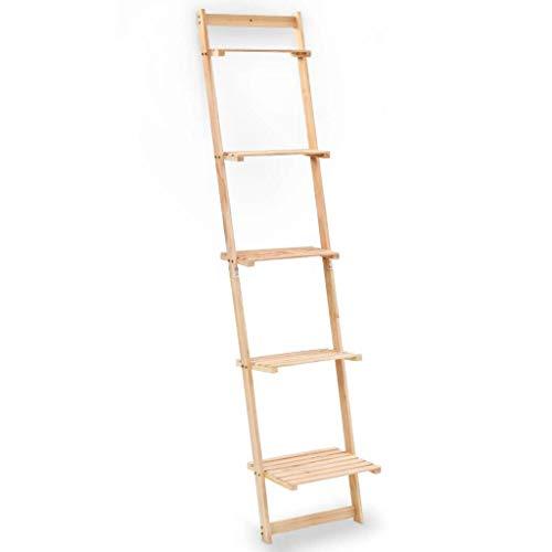vidaXL Estantería de Pared Escalera Madera de Cedro 41,5x30x176 cm Librería