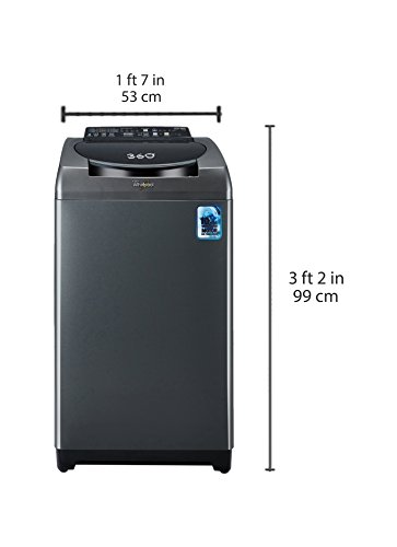 Whirlpool 7.5 kg Fully-Automatic Top Loading Washing Machine (360 Degree Bloomwash Ultimate Care 7.5, Graphite)