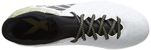 adidas X 16.3 Fg, Scarpe da Calcio Uomo Bianco (Ftwr White/core Black/gold Metallic)