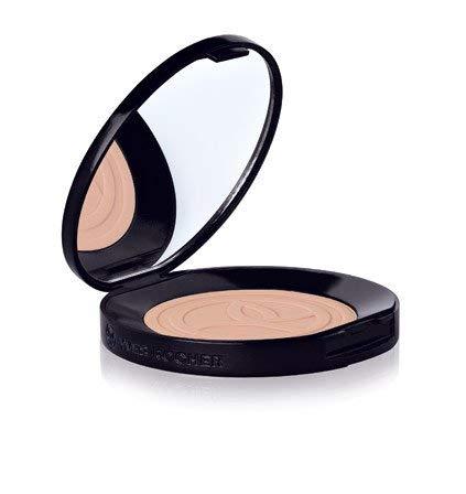 Yves Rocher COULEURS NATURE Kompaktpuder PERFEKTE HAUT Rosé moyen, mattierender Puder, 1 x Spiegeldose 10 g & Schwämmchen -