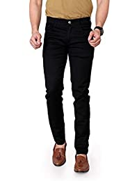Ragzo Men's Black Stretch Slim Fit Stretchable Fabric Casual Wear Denim Jeans