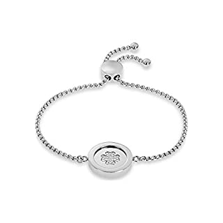 GMK Collection by CHRIST Damen-Armband GMK Collection Edelstahl 24 Zirkonia One Size, silber