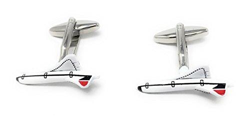 Weiß Concorde Manschettenknöpfe in einer Personalisierte Geschenkbox, kostenlose Gravur