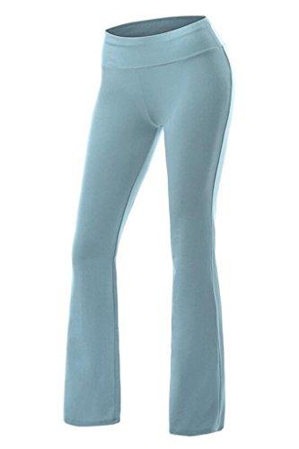 Smile YKK Pantalon de Sport Femme Pantalons Longues Yoga Gym Jogging Sport Casual Confortable Bleu Léger